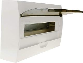 BeMatik - Caja de distribución eléctrica SPN 18M IP40 de Superficie de plástico ABS