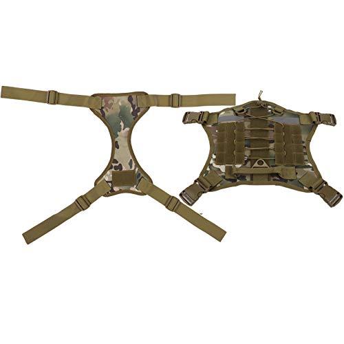 Chaleco de Camuflaje para Perros y Mascotas Chaleco para Perros Anti-perdida Ajustable con arnés para Entrenamiento al Aire Libre(L)