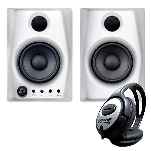 Monkey Banana Gibbon AIR Studio-Monitor-Boxen Weiss + keepdrum Kopfhörer
