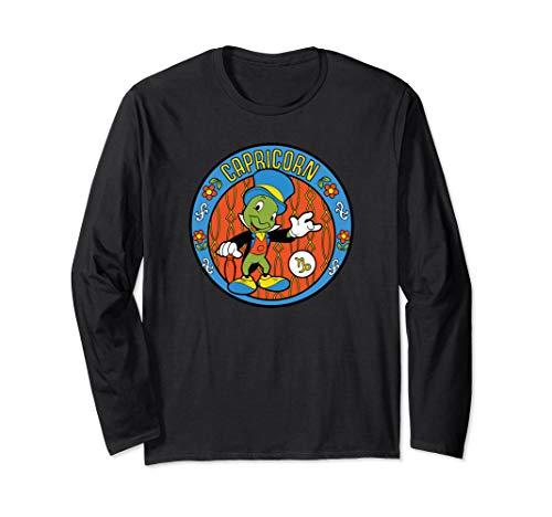 Disney Pinocchio Jiminy Cricket Zodiac Capricorn Langarmshirt