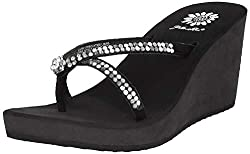 Black Gateway Wedge Flip Flop