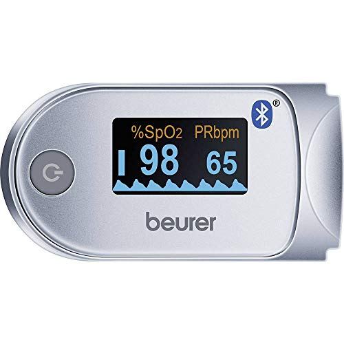 Beurer PO60 Pulse Oximeter with Bluetooth | Measures Heart Rate and arterial Oxygen Saturation for Those with Medical Conditions | Wireless Data Transfer to Your Smartphone | Medical Device,454.20