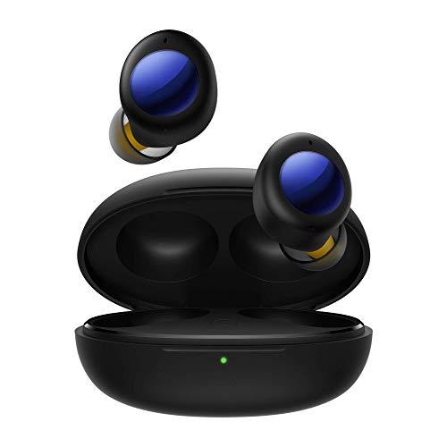realme Buds Air 2 Neo - Auriculares Inalámbricos Bluetooth con cancelación Activa de Ruido, 28 Horas de reproducción Total y Controlador dinámico de Refuerzo de Graves de 10 mm, Negro