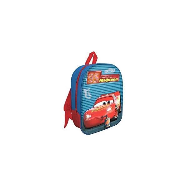 41vM4C+P 3L. SS600  - MC Mochila LED 3D Cars Mochila para niños, 32 cm, Azul/Rojo