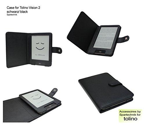 Spartechnik Tasche für Tolino Vision Vision 2 Vision 3 HD Vision 4 HD von Bertelsmann Weltbild Thalia Telekom Hugendubel - bestes Case für Tolino Vision III E-Book Reader - schwarz/Black