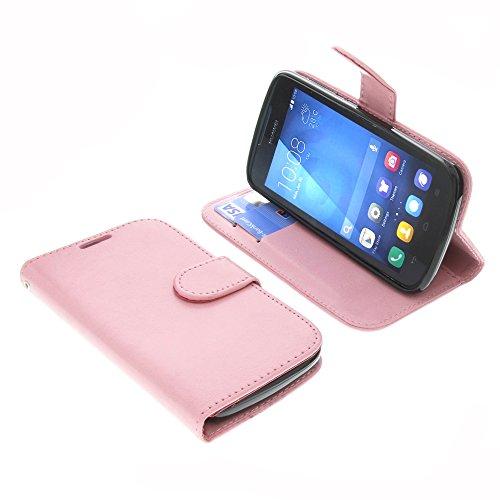 foto-kontor Tasche für Huawei Ascend Y540 Book Soft Style Ständer Schutz Hülle Buch Pink
