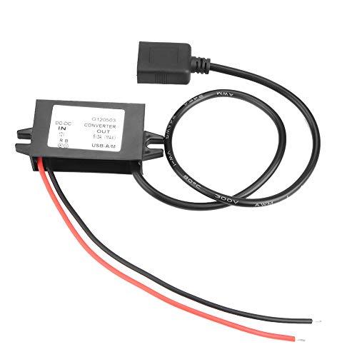 Einzelner USB-Abwärtswandler, 12V bis 5V 3A DC Buck Transformator Stromversorgungsmodul Wandler Wasserdicht, staubdicht und stoßfest