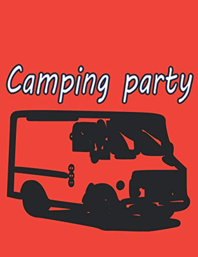Camping party: Camping notebook. Cool idea for gift.