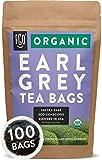Organic Earl Grey Black Tea Bags | 100 Tea Bags | Chinese Keemun, Indian Assam & Italian Bergamot...