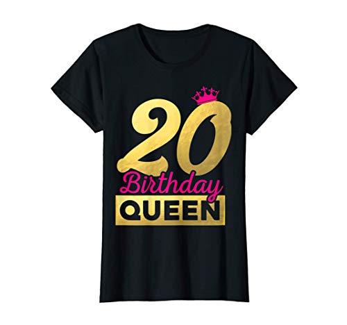 Damen Geschenk zum 20. Geburtstag 2001 süßes Birthday Queen Krone T-Shirt