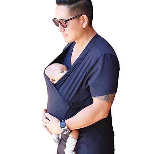 Jnsio Familie Babytrage Kleidung Känguru T-Shirt Multifunktionskleidung Für Papa Mutter Mit Baby Kurzarm Big Pocket Tank T-Shirt Top,Men,M