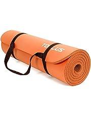 TOPLUS Pogrubiona mata gimnastyczna, bez ftalanów, mata do jogi, antypoślizgowa i przyjazna dla stawów, mata sportowa do jogi, pilatesu, sportu, z praktycznym paskiem do noszenia, mata do pilatesu, 183 x 61 x 1 cm