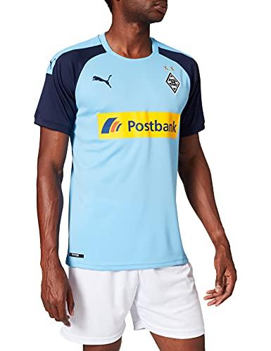 PUMA Herren BMG Away Shirt Replica with sp Trikot, Team Light Blue-Peacoat, L