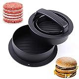 TopHomer Prensa para hamburguesas 3 en 1 – Kit de prensa antiadherente para hamburguesas rellenas, fácil de limpiar y fácil de usar y fácil de recoger