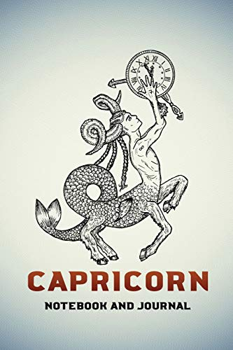 Capricorn Notebook and Journal: Fantasy Style Zodiac Star Sign Horoscope Journal, Diary, Notebook or Log, Birthday Christmas Gift for Men, Women and Kids | 118 pages | 6x9 Easy Carry Compact Size