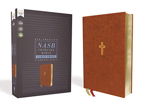 Compare Textbook Prices for NASB, Thinline Bible, Large Print, Leathersoft, Brown, Red Letter, 1995 Text, Comfort Print Large type / Large print Edition ISBN 9780310451020 by Zondervan