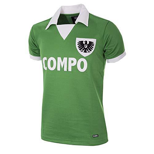 copa Herren SC Preussen Münster 1977-78 Football T-Shirt mit Retro-Fußballkragen, grün, L