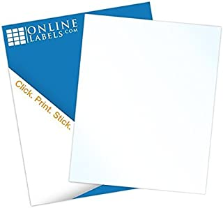 Clear Gloss Sticker Paper, 100 Sheets, 8.5 x 11 Full Sheet Label, Inkjet Printers, Online Labels