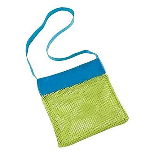 IENPAJNEPQN Außen Schwimmen-Strand-Beutel-beweglicher Baby-Meeresspeichernetzbeutel Kinder Kinder Strand Sand Weg Spielzeug-Netz Beutel Sporttuch Rucksäcke (Color : Green Color)