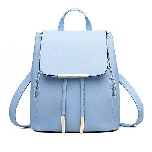 Rucksack Mädchen Damen, VECOLE Backpack PU-Material Rucksack Handtasche Umhängetasche Reiserucksack Campus Studenten Tasche für Universität/Arbeit/Reise(Blau)
