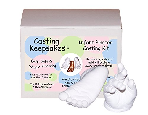 Luna Bean Infant Plaster Statue Casting Keepsake Kit - Cast Baby Hand & Foot (Clear Sealant - Matte)