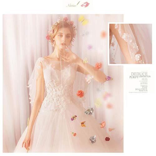LYJFSZ-7 Hochzeitskleid,Reines Weißes Brautkleid Der Freundin, Elegantes Und Niedliches Feenhaftes Kleid, Spitze Tüll Runde Prinzessin Stil Brautkleid,
