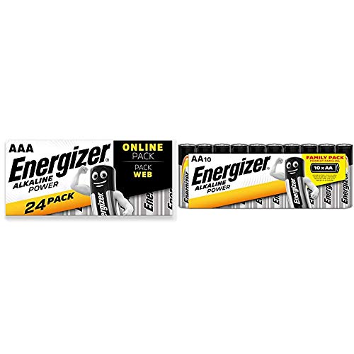 Energizer Batterien AAA, Alkaline Power, 24 Stück und Batterien AA, Alkaline Power, 10 Stück