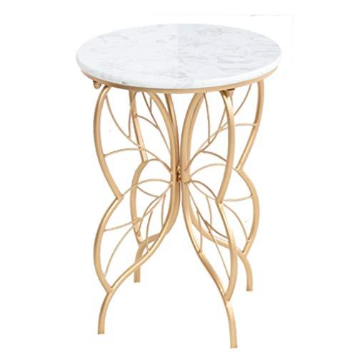 Tables basses Papillon en Fer Forgé Petite Côté Coin Table De Chevet Table De Canapé Salon Table Ronde Cadeau (Color : Gold, Size : 39 * 39 * 55cm)