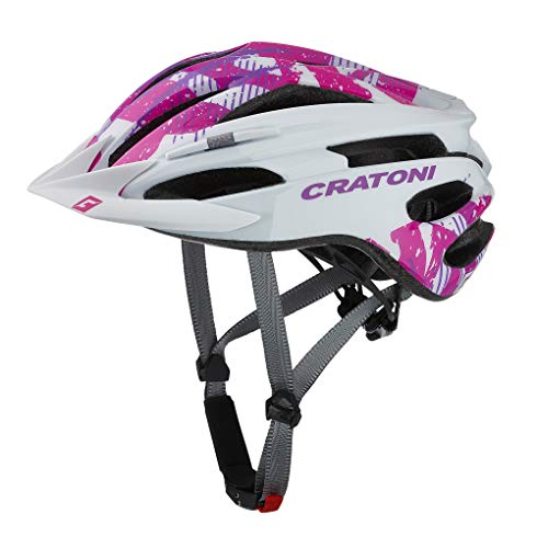 Cratoni Pacer MTB Helm White/pink Gloss Kopfumfang S/M | 54-58cm 2020 Fahrradhelm