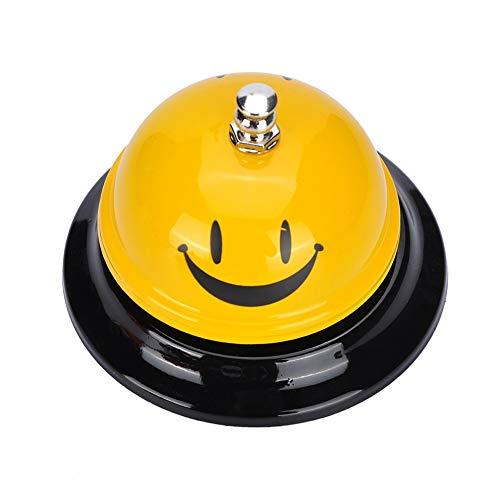 Timbre de Recepción Timbre de Mesa Timbre de Servicio con Cara Sonriente para Restaurante, Hotel, Aula, Oficina
