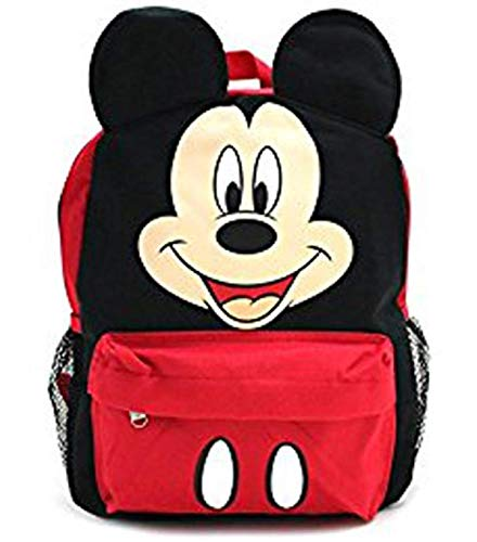 Mickey Mouse Happy Face 3D Ears 16' Large Backpack School Bag