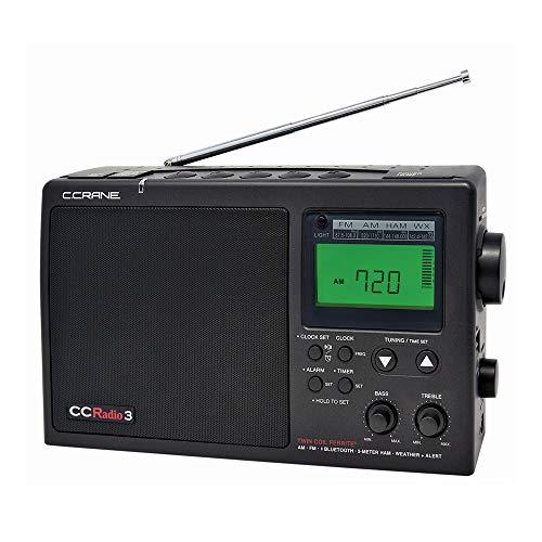 C. Crane CCRadio 3 Long Range Reception AM, FM, NOAA Weather Plus Alert and 2-Meter Ham Band Portable Digital Radio with Bluetooth