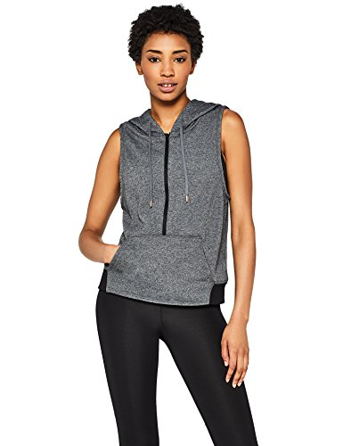 Marca Amazon - AURIQUE Chaleco Media Cremallera Mujer, Gris (Dark Grey), 42, Label:L