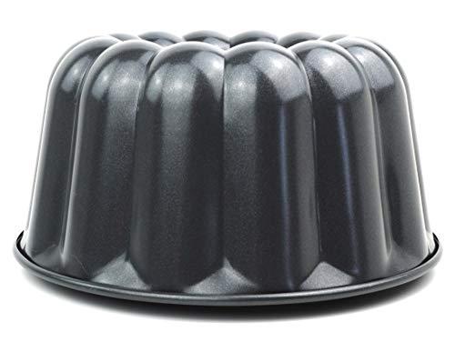 Kaiser La Forme Plus Gugelhupfform 24 cm, Gugelhupf Backform rund mit Emailleboden, extra hoher Rand, Kuchenform antihaftbeschichtet, schnittfest