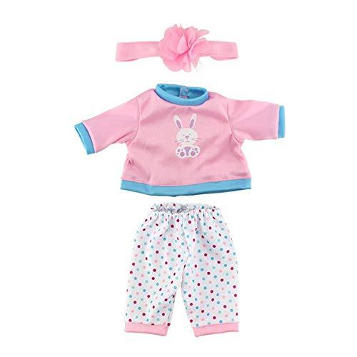 Ropa De La Muñeca De La Muñeca Del Mono De Los Pijamas De Equipos De 17 Pulgadas Las Muñecas Del Bebé De La Muñeca De Juego 1set