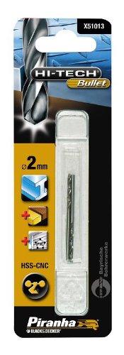 Piranha Hi-Tech Bullet HSS-CNC Metal Drill Bit, 2 x 2 mm