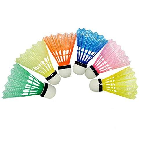 Casecover 6pcs Buntes Nylon Badminton Bälle Für Tragbaren Outdoor Sport Badmintonzubehör (zufällige Farbe)