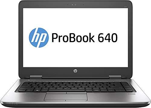 HP ProBook 640 G2 Laptop, 14' Display, Intel Core i5-6200U 2.3GHz, 16GB RAM, 256GB SSD,, DisplayPort, Wi-Fi, Bluetooth, Windows 10 Pro (Renewed)