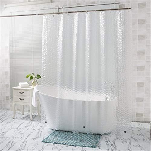 MMHJS Europäischer Duschvorhang mit dickem Wasserwürfel, Duschvorhang mit Badtrennwand, schimmel- & wasserdichter Duschvorhang in Hotels zu jeder Jahreszeit