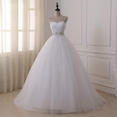 SWEETQT Braut Brautkleid Brautkleider Sweetheart Sweep Train Lace Applique Korsett Brautkleid Spitzenkleid Abendkleid