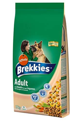 Brekkies Adult Trockenfutter für Hunde mit Geflügel und Gemüse, Format Maxi, 15 kg, 2 Stück