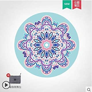 Foldable Yoga Mats Collapsible Round Yoga Mat MeditatiOn Mat Female Natural Rubber Non-slip Carpet Sit-in Home Sitting Cus...
