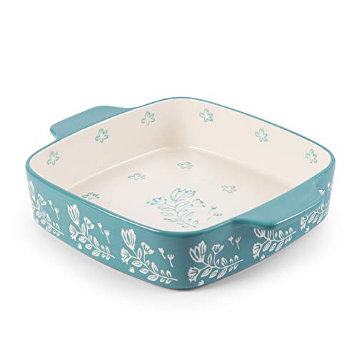 Wisenvoy Baking Dish Ceramic 9x9 Baking Pan Brownie Pan Casserole Dish Square Lasagna Pan Dish Pan Bakeware Sets