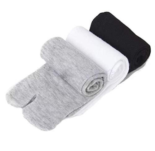 3 paar Unisex Japanse Kimono Flip Flop & Sandalen sokken - speciale Split Toe breiding - Tabi Ninja sokken