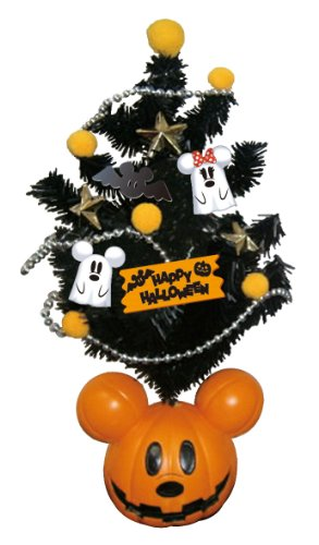 Halloween Tree with Mickey Head Pumpkin Ornament