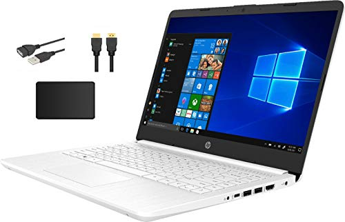 HP 14' HD Micro-Edge Laptop Bundle Woov Accessory   Intel Celeron N4020   4GB RAM   64GB eMMC   Intel UHD Graphics   HDMI   USB 3.1   Windows 10   White