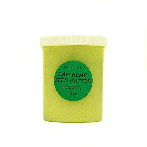 Hemp Seed Butter Organic 100% Pure Raw 8 Oz