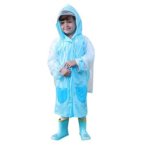 Arestory Hooded Regenjas Baby Jongens Meisjes Cartoon Waterdichte Regenjas +Tas Unisex Kids Reflecterende Tape Regenkleding Student Veelkleurige Kleding Jas Regenpak Kleding