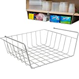 Evelots Slide Under Shelf Basket-Sturdy Coated Wire-No Rust-Easy Install