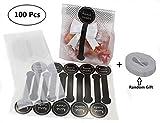 100pcs sacchetti di plastica traslucida con 100pcs Hand made adesivi per biscotti, torte, cioccolato, caramelle, snack Wrapping Good for Bakery party